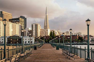Skyscraper Photograph - Pier Seven And Transamerica Pyramid by Alexander Spatari