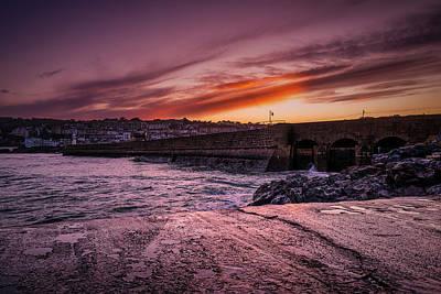 Pier To Pier Sunset Art Print