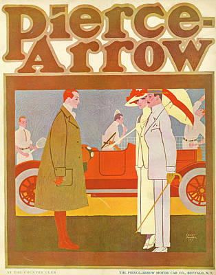 Mixed Media - Pierce-arrow Advertisement by Louis Fancher