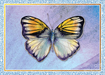 Royalty-Free and Rights-Managed Images - Pieridae Butterfly by Amy Kirkpatrick
