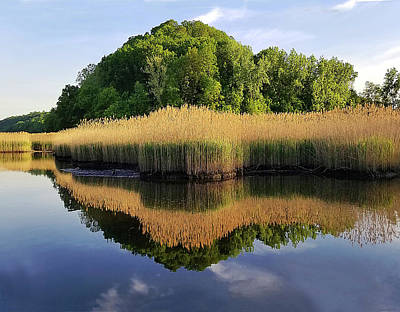 Photograph - Piermont Summer Backwater by Roger Bester