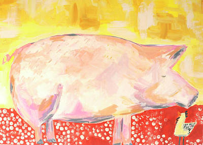 Wall Art - Painting - Pig And Chicken  by Kaley Alie