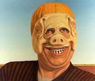 Painting - Pig-faced Pumpkinhead by James W Johnson