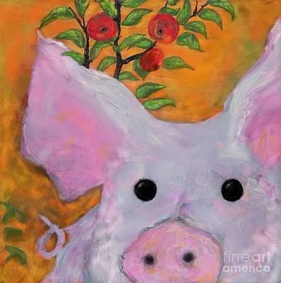 Painting - pig by Reina Resto