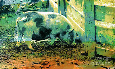 Digital Art - Piggy by Jutta Maria Pusl