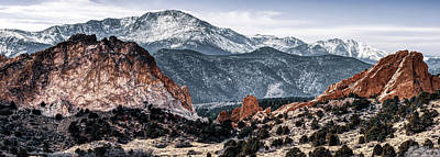 Photograph - Pikes Peak Mountain Landscape Panorama - Colorado Springs by Gregory Ballos