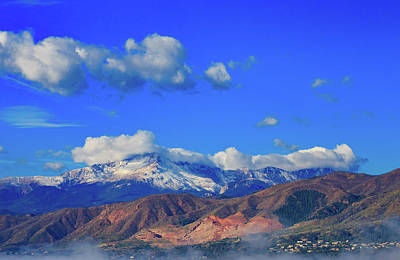 Royalty-Free and Rights-Managed Images - Pikes Peak Shines Above the Waldo Canyon Burn Scar 2 by Bridget Calip