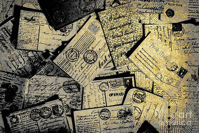 Photograph - Piled Paper Postcards by Jorgo Photography - Wall Art Gallery