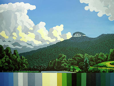 Painting - Pilot Mountain - Summer by John Gibbs
