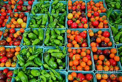 Photograph - Pimento De Padron Peppers And Cherry Tomatoes by Bruce Block