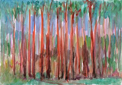 Painting - Pine Forest by Dobrotsvet Art
