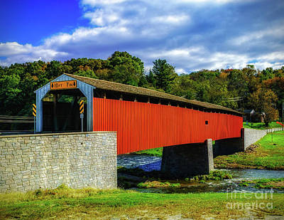 Photograph -  Pine Grove Covered Bridge by Nick Zelinsky