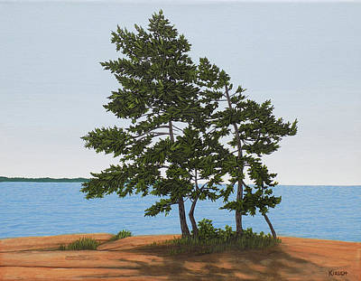 Painting - Pine On The Point by Kenneth Kirsch
