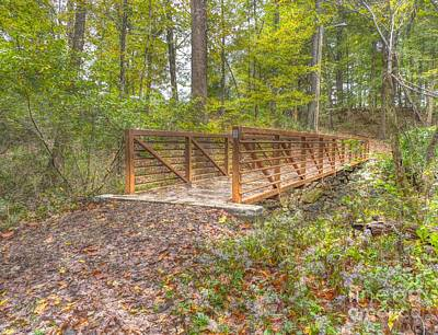 Photograph - Pine Quarry Park Bridge by Jeremy Lankford