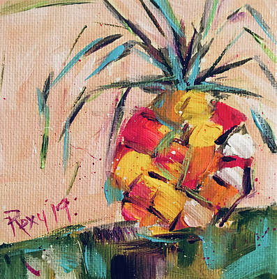 Contemporary Painting - Pineapple Dream by Roxy Rich