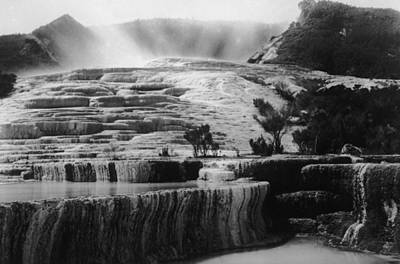 Pink & White Terraces Art Print by General Photographic Agency