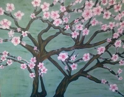 Painting - Pink Almond Blossom by Whitney Wiedner