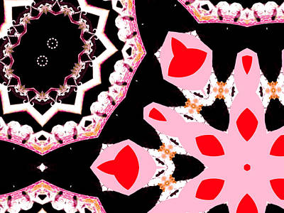 Digital Art - Pink And Black Abstract 10 by Artist Dot