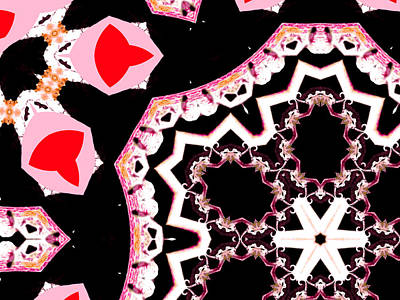 Digital Art - Pink And Black Abstract 11 by Artist Dot