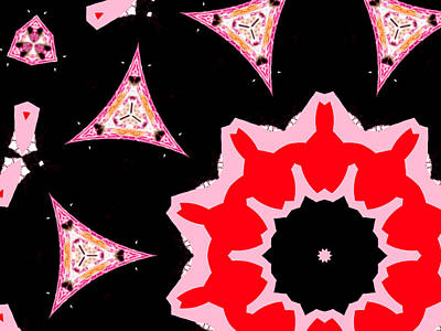 Digital Art - Pink And Black Abstract 14 by Artist Dot