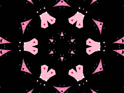 Digital Art - Pink And Black Abstract 15 by Artist Dot