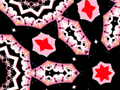 Digital Art - Pink And Black Abstract 18 by Artist Dot