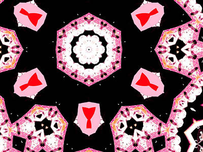 Digital Art - Pink And Black Abstract 20 by Artist Dot
