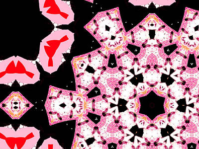 Digital Art - Pink And Black Abstract 22 by Artist Dot