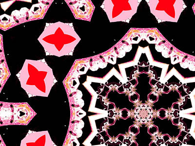 Digital Art - Pink And Black Abstract 25 by Artist Dot
