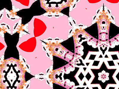 Digital Art - Pink And Black Abstract 6 by Artist Dot