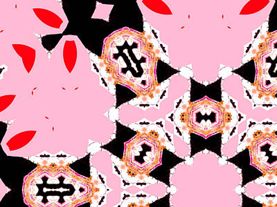 Digital Art - Pink And Black Abstract 8 by Artist Dot