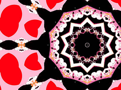 Digital Art - Pink And Black Abstract 9 by Artist Dot