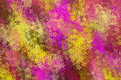 Movies Star Paintings - Pink And Yellow Flowers Abstract Background by Tim LA