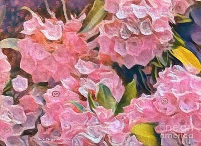 Digital Art - Pink Bougainvillea by Kathie Chicoine