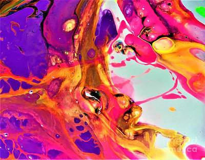 Painting - Pink Bubbly  by Allison Constantino