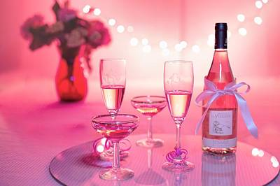 Photograph - Pink Champagne by Top Wallpapers