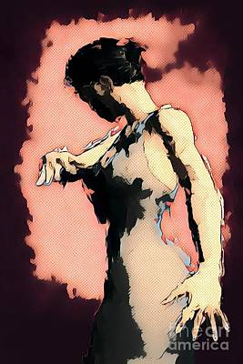 Comics Royalty-Free and Rights-Managed Images - Pink Flamenco by John Edwards