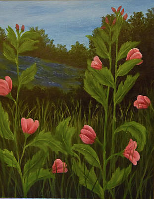 Painting - Pink Flowers by Gloria Johnson