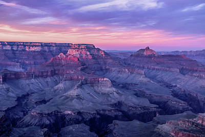 Photograph - Pink Hues Over The Grand Canyon by Dawn Richards