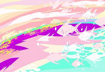 Illustration Digital Art - Pink In Sunset by Hiki