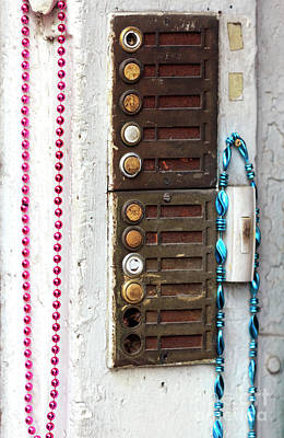 Photograph - Pink Mardi Gras Beads New Orleans by John Rizzuto