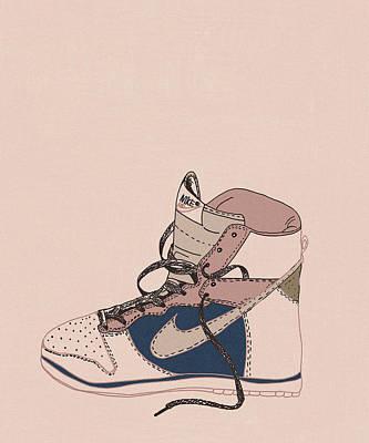 Digital Art - Pink Nike by Cortney Herron