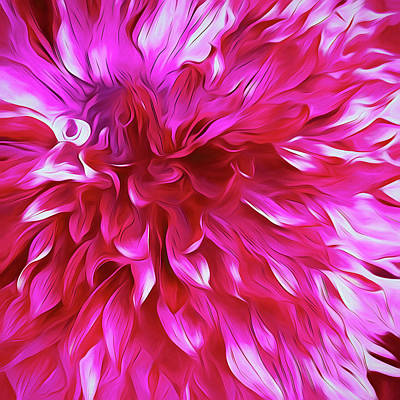 Color Digital Art - Pink Passion Punch  by Cindy Greenstein