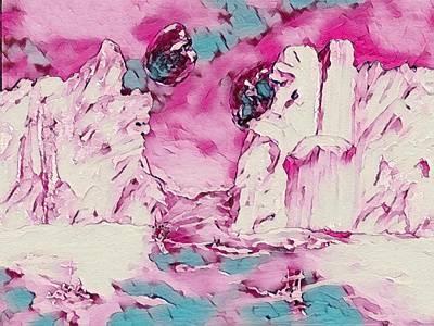 Digital Art - Pink Planet by Gail Daley