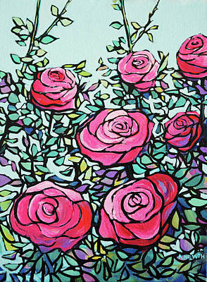 Wall Art - Painting - Pink Roses by Alison Newth