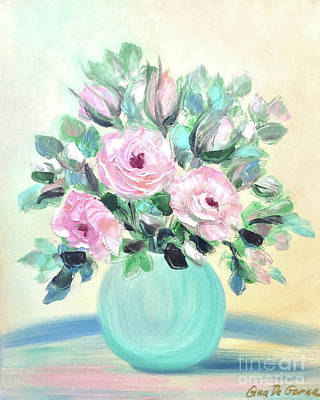 Painting - Pink Roses by Gina De Gorna