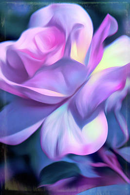 Wall Art - Photograph - Pink Smudge Rose Art by Geraldine Scull