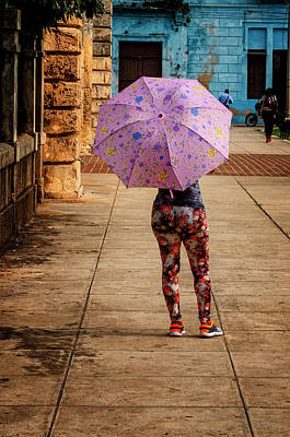 Photograph - Pink Umbrella by Tom Singleton