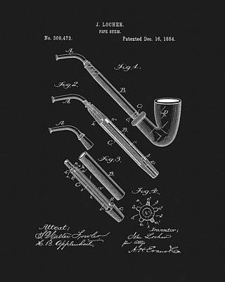 Drawing - Pipe Stem Patent by Dan Sproul