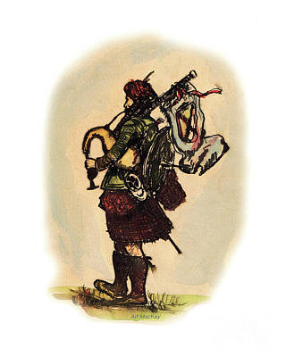 Painting - Piper by Art MacKay